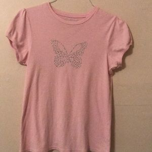 Girls pink short sleeve top